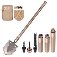 Folding Shovel Multifunctional Military Tactical Spade Outdoor Survival Tool UK