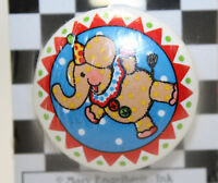 Mary Engelbreit Ceramic Drawer Pull - Circus Elephant in package