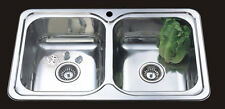 NEW Grande 820mm Double bowl Kitchen Sink * Buy direct from Mr Sink*