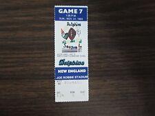 1993 Miami Dolphins Ticket Stub Nov 21, 1993 vs New England Patriots 11-21-93
