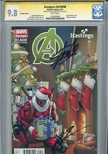 Avengers Vol 5 24.NOW CGC 9.8 SS X2 Hasting Stan Lee Deadpool Highest on census