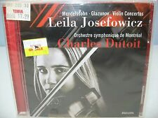 Mendelssohn/Glazunov VIOLIN CONCERTOS, Leila Josefowicz, OSM/Dutoit, Philips NEW