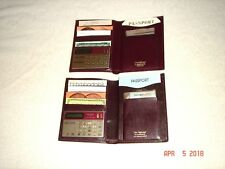 """The Diplomat"" by Exec'Master Leather Passport Holders   (2)    NEW"