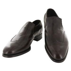 John Lobb Dark Brown Calf Leather Wingtip Loafers - (526)