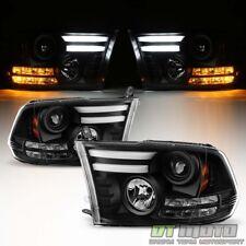 2009-2018 Dodge Ram 1500 2500 3500 LED Turn Lights DRL Tube Projector Headlights