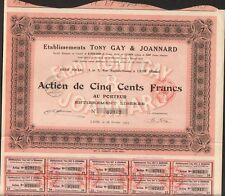 Etablissements TONY GAY & JOANNARD, pelleterie (LYON) (M)