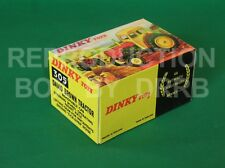 Dinky #305 David Brown Tractor (yellow / red) - Reproduction Box by DRRB
