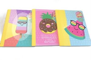 PERFECTLY SCENTED SCRATCH AND SNIFF Set of 3 COMPOSITION BOOK WIDE RULED NEW