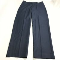 Calvin Klein Men's Dress Pants 32x32 Navy Pleat Front Pockets Slim Straight Leg