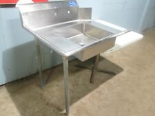 Ssp Hd Commercial Nsf Ss 36w Left Side Dirty Dish Washing Table Withsink