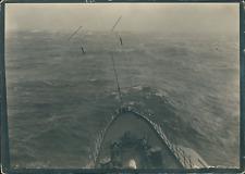 Allemagne, Océan Atlantique, proue d'un navire à identifier Vintage silver