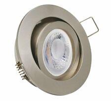 Einbaustrahler mit 5W LED Modul dimmbar Einbauspot gebürstet Rund schwenkbar
