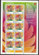 AUSTRALIA 2016 KYLE CHALMERS FREESTYLE RIO OLYMPIC GAMES GOLD MEDAL SHEET MNH