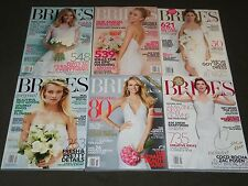 2014 BRIDES MAGAZINE LOT OF 6 DIFFERENT ISSUES - GREAT COVERS & PHOTOS - O 921