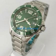 40mm Sterile Green Self Winding Mens Automat Watch Sapphire Glass Rotaitng Bezel