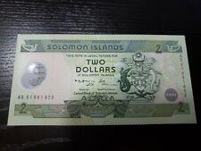 🏝 Solomon Islands 2 dollars 2001 P-23 Silver Jubilee CBSI Banknote UNC