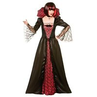 NEW Gothic Vampiress - Ladies Vampire Vamp Fancy Dress Halloween Costume