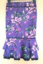Karen Millen Skirt 8 Occasion Wiggle Pencil Mermaid Frill Floral Summer
