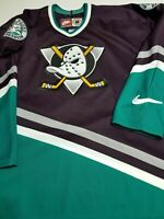 Vintage 90s Nike Authentic Anaheim Mighty Ducks Game Jersey Rare Size 2XL NHL
