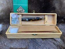 Pre 64 Puma 63 5/8 Tortoise Straight Razor With Gold  Etch Puma Presentation Box