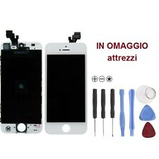Vetro Touch screen con Display LCD originale già assemblato PER iPhone 5s BIANCO