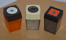 Old vintage West Germany Pencil sharpeners lot colorful plastic Anspitzer rare