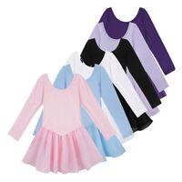 US Girls Gymnastics Ballerina Ballet Kids Leotard Tutu Skirt Dance Costume Dress