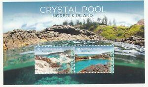 2018 Norfolk isl. Crystal Pool miniature sheet. MUH. Going cheap