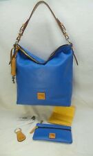 243afc0e737e NEW Dooney   Bourke McKENZIE Smooth Leather Hobo with Accessories MARINE  BLUE