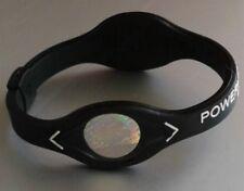 Power Balance Armband Sport-und Energie Armband mit zwei Hologrammen Schwarz Neu