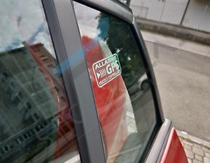 ADESIVI ANTIFURTO SATELLITARE GPS IN DUE COLORI PER INTERNO AUTO PROFESSIONALI