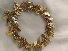 Nugaard Leaf Chain with Magnet Bracelet Gold Ri 70 NEW Leaves