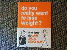1962 Book Do you really want to lose weight knox gelatine eat reduce plan recipe