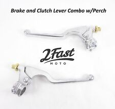 GP Style Clutch Brake Lever Set Combo with Perch Honda ATV Dirtbike Off Road