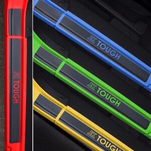 Door Sill Plate Protectors Black Matte Vinyl fits 4-Door Jeep Wrangler JK 2021