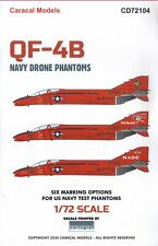 NEW 1:72 Caracal Models Decals CD72104 McDonnell QF-4B Navy Drone Phantoms