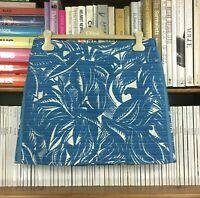 TORY BURCH skirt mini tropical floral print palm short vacation UK 12 US 8