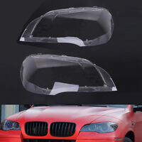 Pair Lens Lamp Cover Headlight Cover Lampshade for BMW X5 E70 07-12