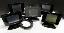 Lot 5 Crestron Tps-6 Tps-6-B-T Black Touchscreen Panel with Cable Stand