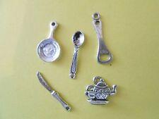 lot de 10 breloques charms pendentifs perle scrapbooking chenille NEUF