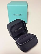 Genuine Tiffany & Co Ring Presentation Inner Black Suede Box with Outer Blue Box