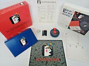 Scattergories Family Dice Board Game Milton Bradley 1988 Vintage Retro Complete