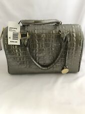 NWT HTF BRAHMIN GINNY SATCHEL GRAY LEATHER SATCHEL