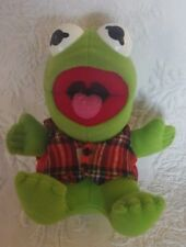 "1987 Henson Muppet Kermit The Frog Plush 7"" Tall"