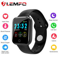 LEMFO I5 smart watch waterproof monitor heart rate sleep for Android ios phone