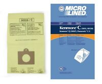 DVC Micro-Lined Bags Type C, Q, 5055, 50557, 50558 Fit Kenmore Canister-10 Bags