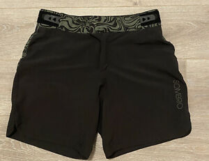 Sombrio Shorts Girls Small Black Mountain Biking Hook And Loop Waist Snap Button