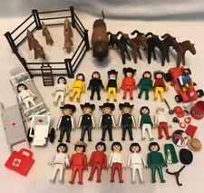 Vintage 1970-1989 Playmobil Geobra Horses Buffalo Figures Hospital Pcs And More