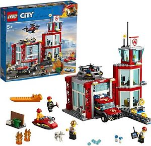 Brand New 60215 LEGO CITY Fire Station Sealed Free & Fast P&P Box Damage *NEW*
