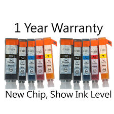 10pk NEW Ink Set w/ Chip for PGI-220 CLI-221 Canon Pixma MP640 MX860 MX870 MP560